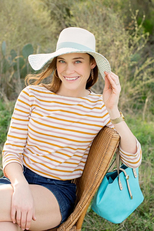 Seafoam Floppy Hat & Teal 2-in-1 Bag
