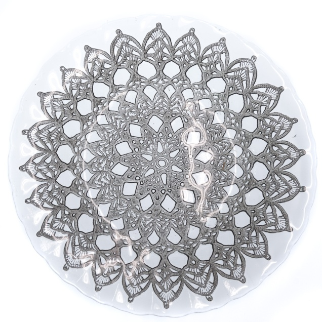 Glass Lace Plate