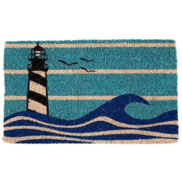 Lighthouse Handwoven Coir Doormat