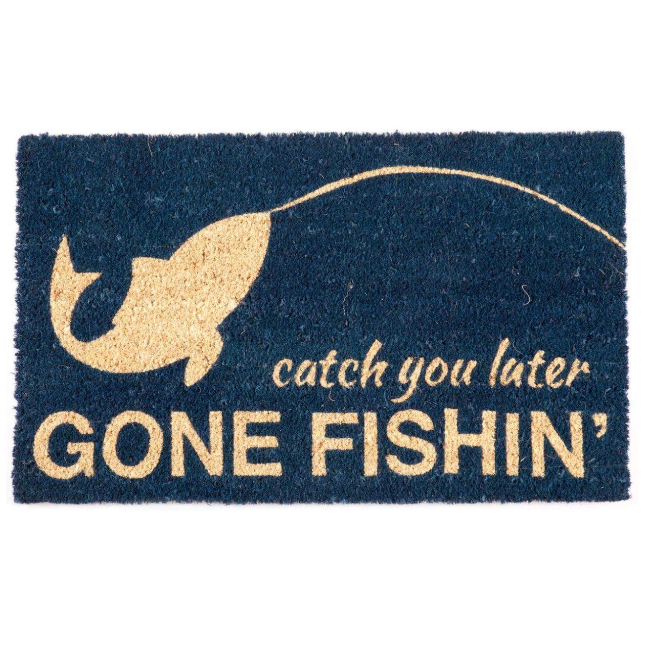 """""""Gone Fishin'"""" Coir Doormat"""