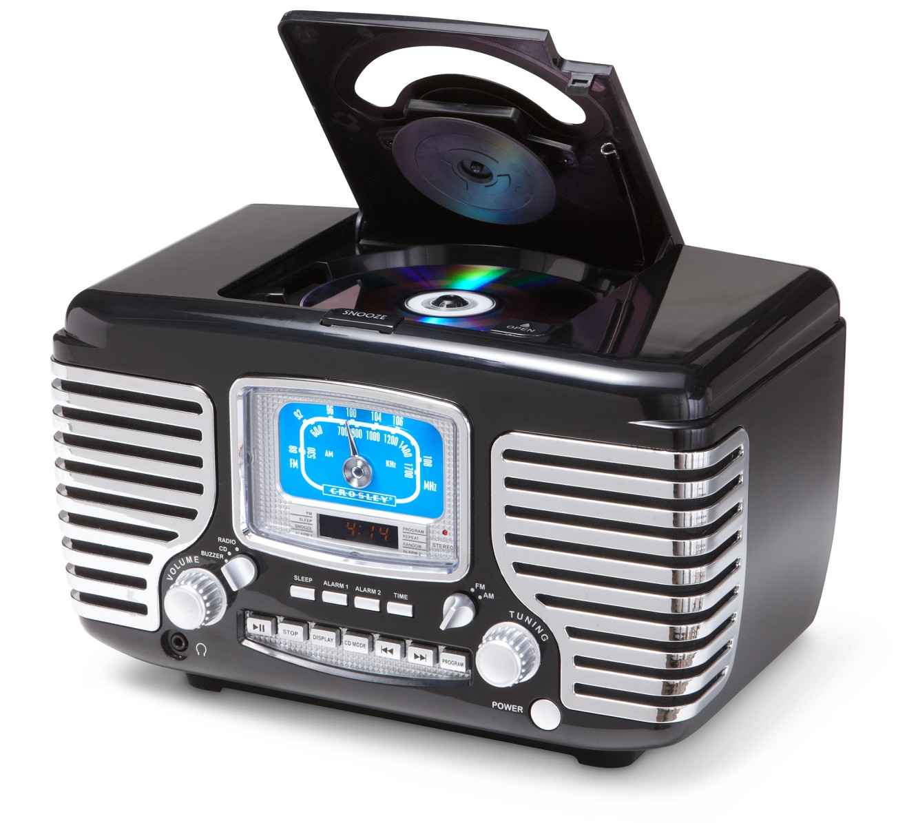 Crosley ® Corsair Clock Radio and CD Player - Black