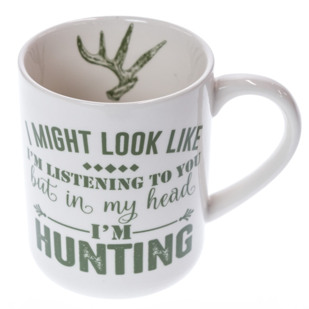 "Stoneware Mug - ""In My Head I'm Hunting"""