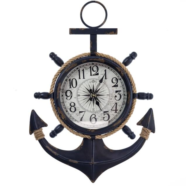 Metal Anchor Wall Clock