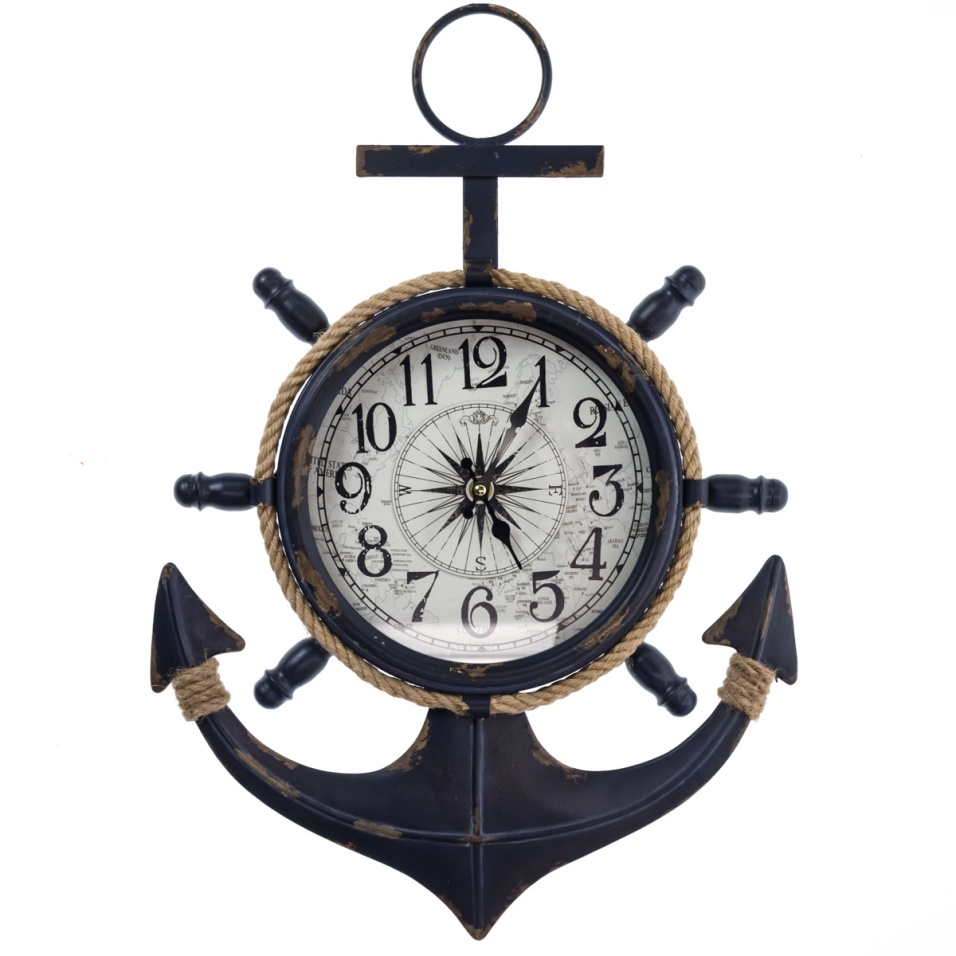Metal Anchor Wall Clock