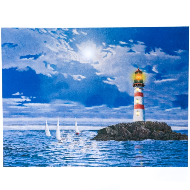 Light-Up Lighthouse Canvas