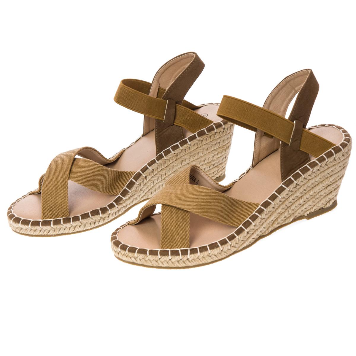 Brown Wedge Sandal