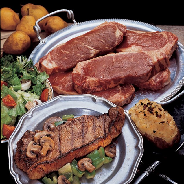 Kansas City Beef Strip Steaks - Four 8 oz.