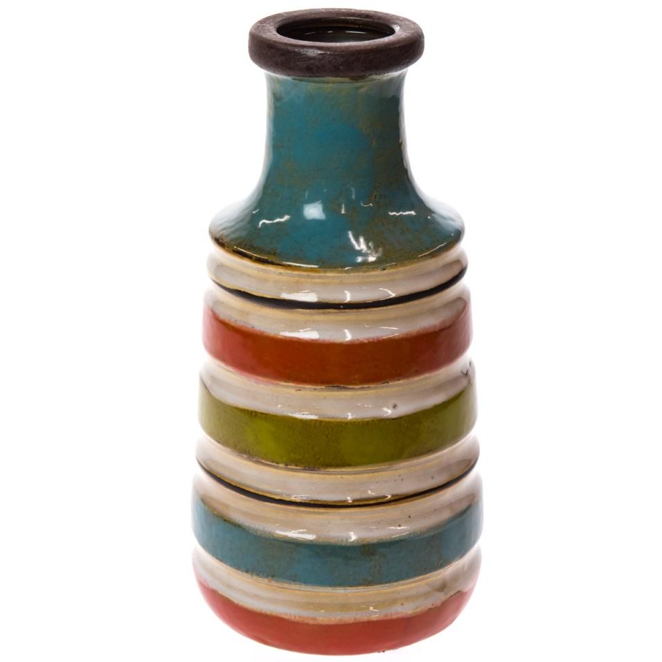 Striped Ceramic Vase