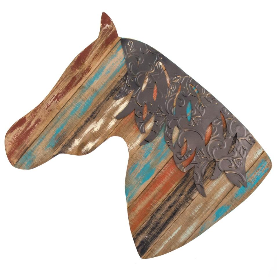 Wooden Horse Head Wall Decor