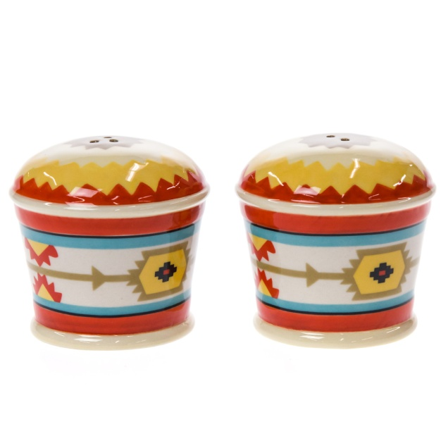 Stoneware Salt and Pepper Shaker Set