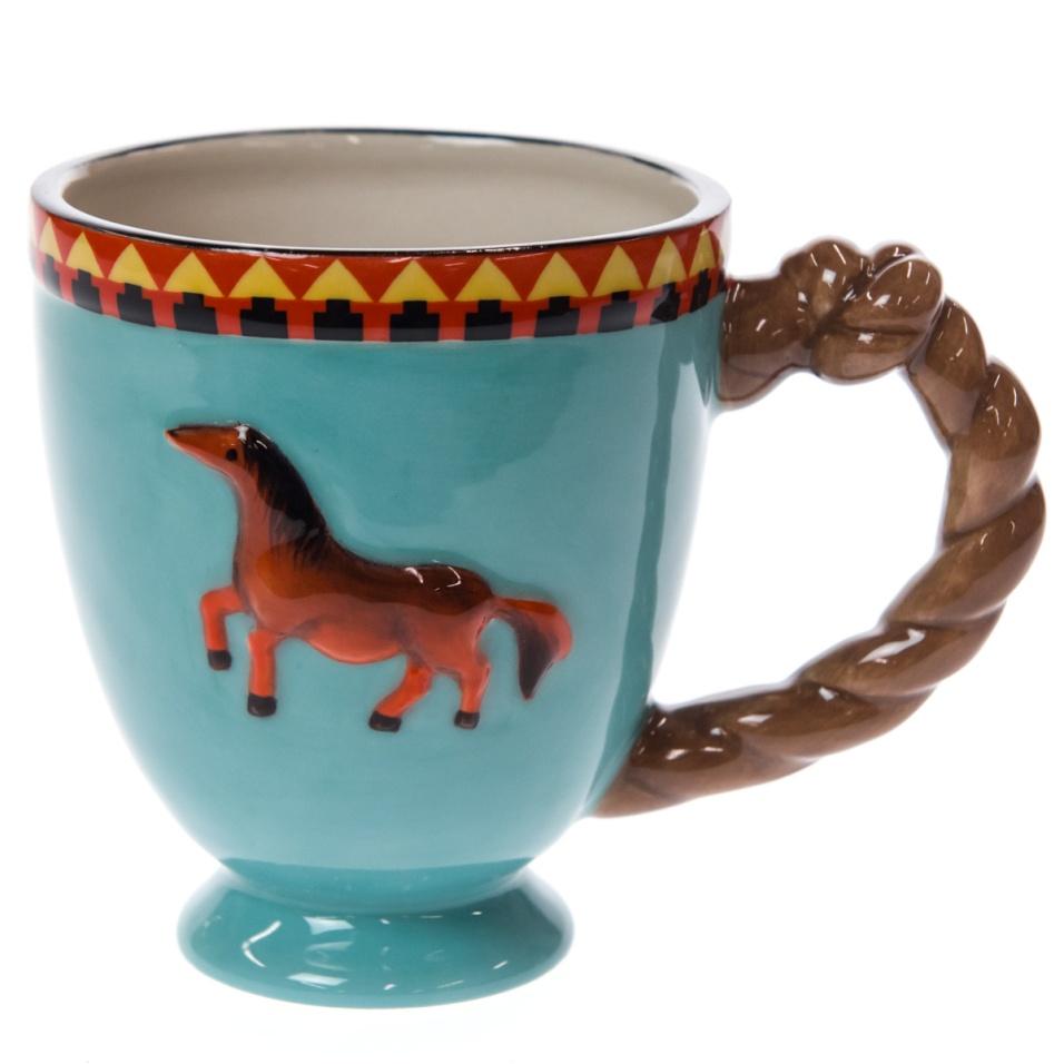 Stoneware Horse Mug - Brown