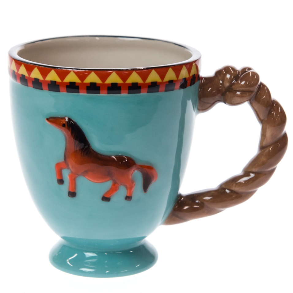 Stoneware Horse Mug - Brown
