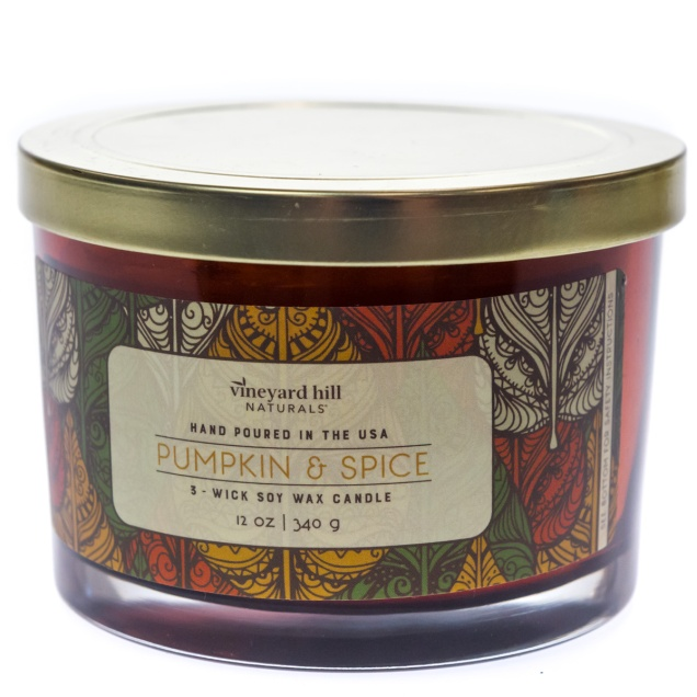 Pumpkin and Spice 3-Wick Soy Candle