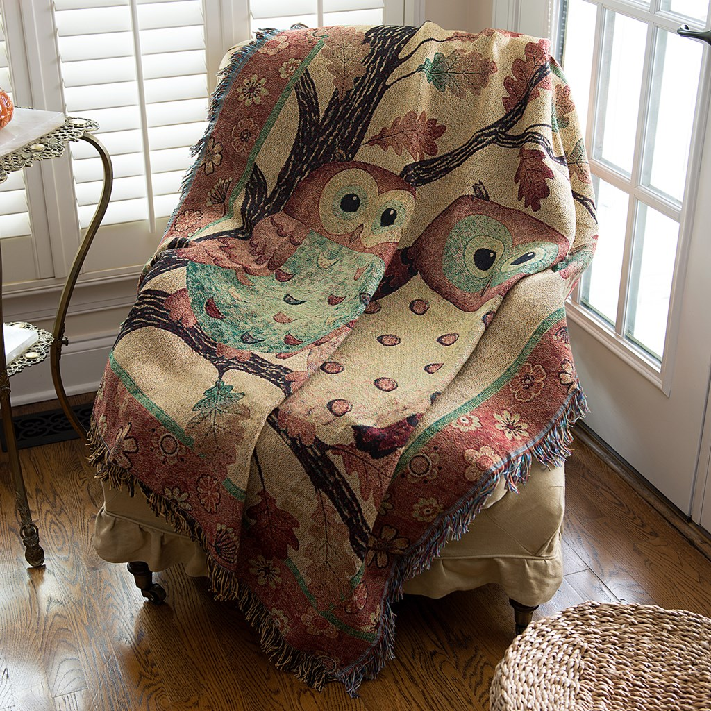 Owl Tapestry Throw Blanket