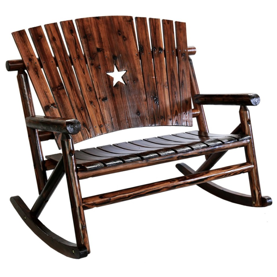 Char-Log Wooden Star Double Rocker