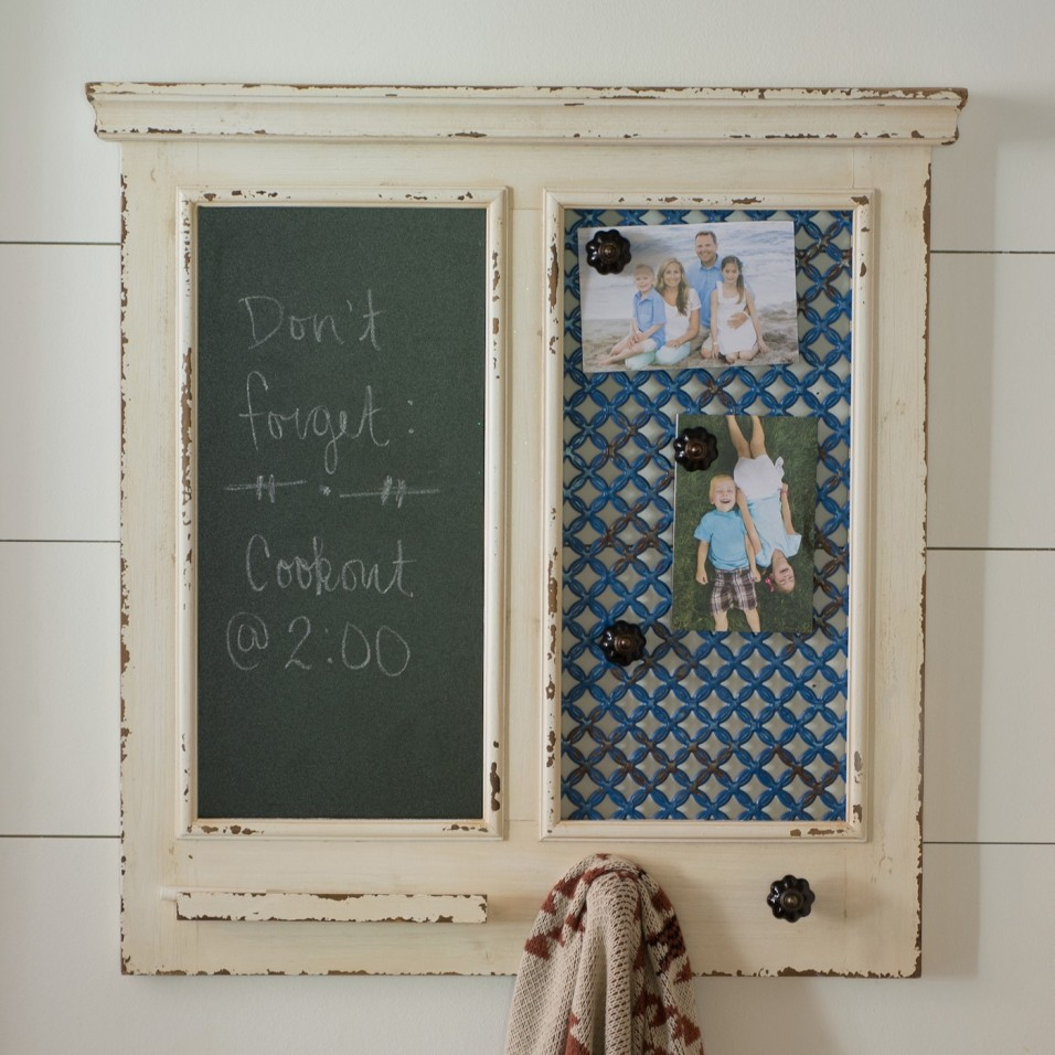Magnetic Wooden Message Board