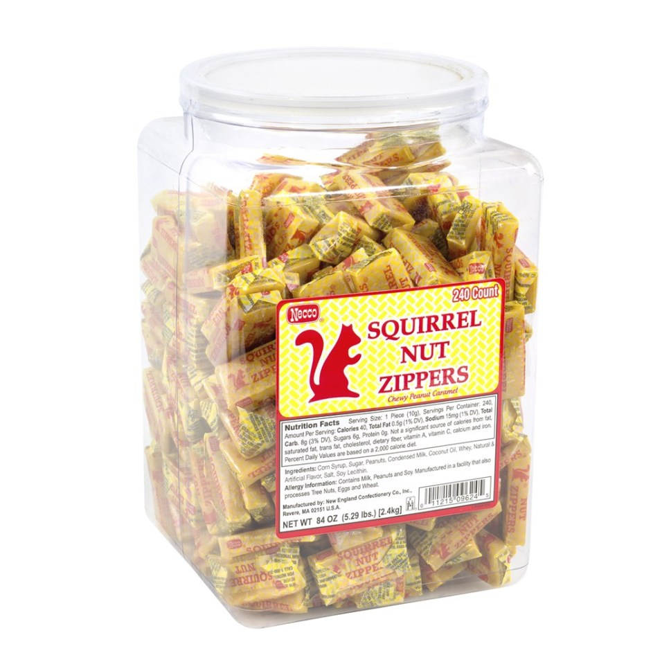 Squirrel Nut Zippers Tub - 240 Pieces