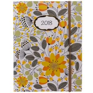 2018 Floral Print Weekly Planner