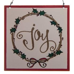 """""""Joy"""" Metal Sign Ornament"""