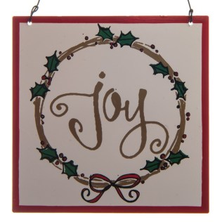 """Joy"" Metal Sign Ornament"