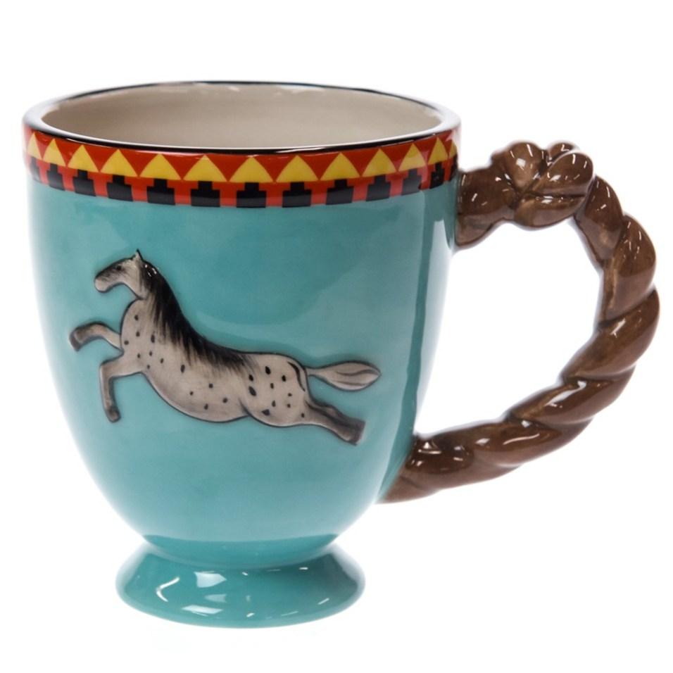 Stoneware Horse Mug - Gray