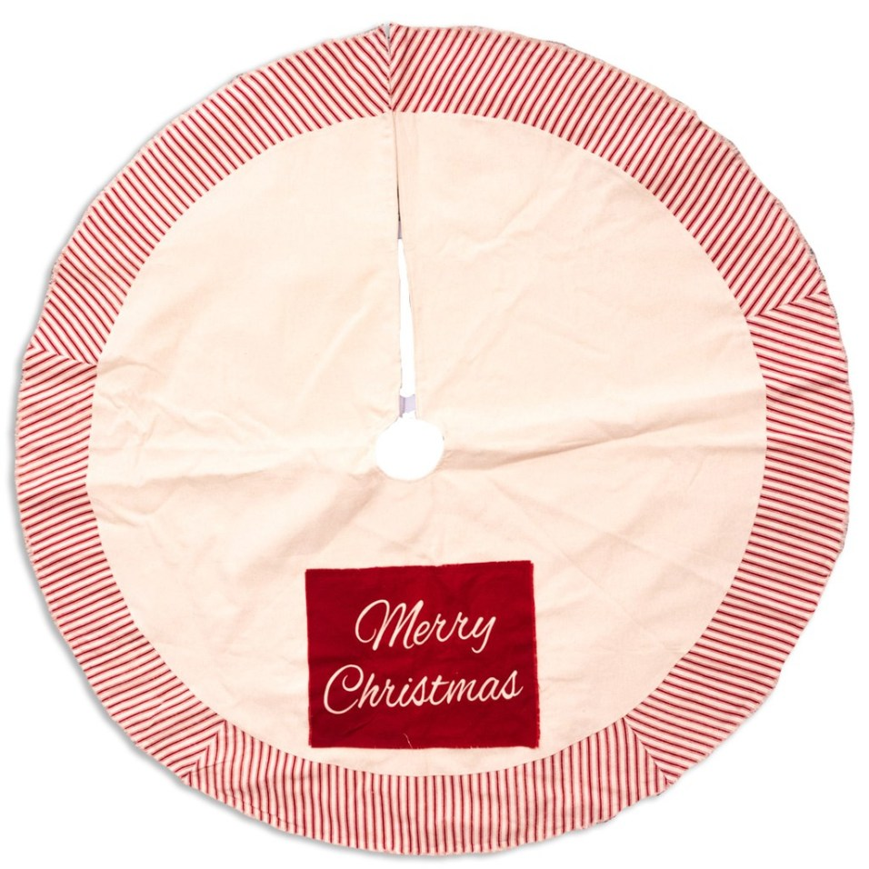 """Merry Christmas"" Tree Skirt"