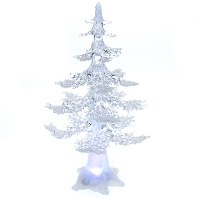 "13"" Acrylic Light-Up Christmas Tree"