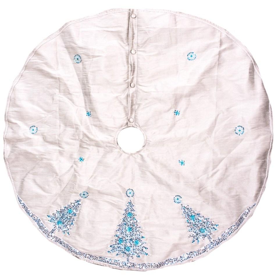 Beaded Sequin Tree Christmas Tree Skirt