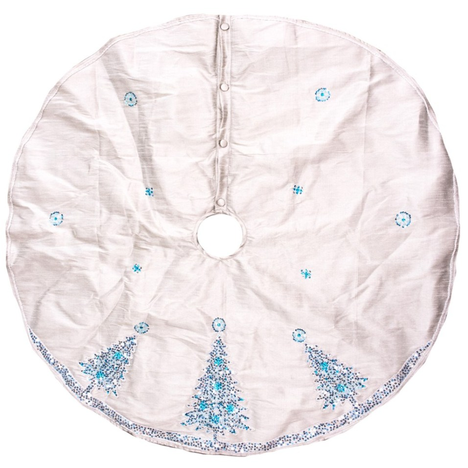 Beaded Sequin Tree Christmas Tree Skirt