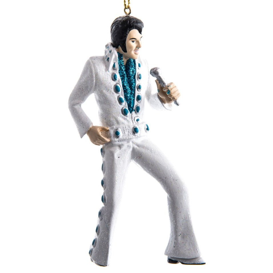 Elvis In White Concho Suit Ornament