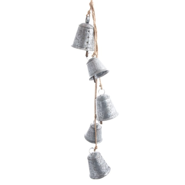 Galvanized Bell Cluster Ornament