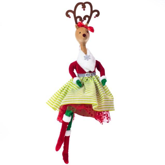 Girl Reindeer Tree Topper
