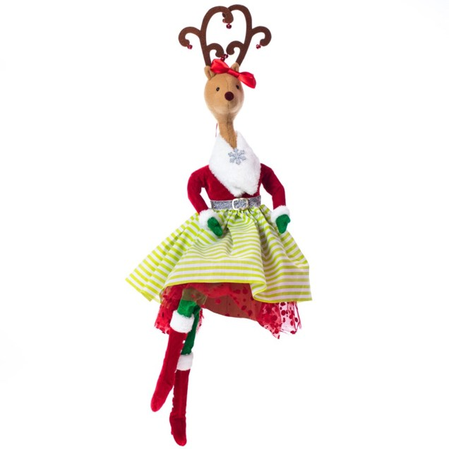 Girl Reindeer Tree Topper