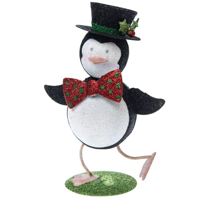 Glitter Penguin In Top Hat