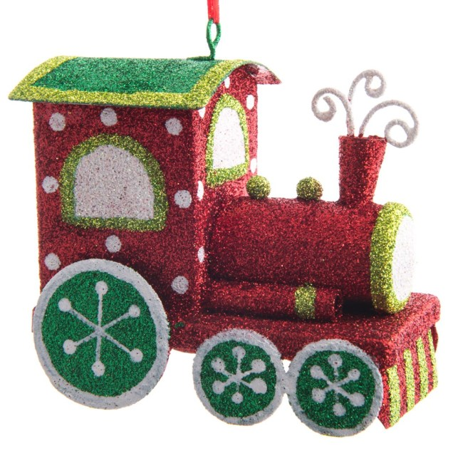 Glitter Train Ornament