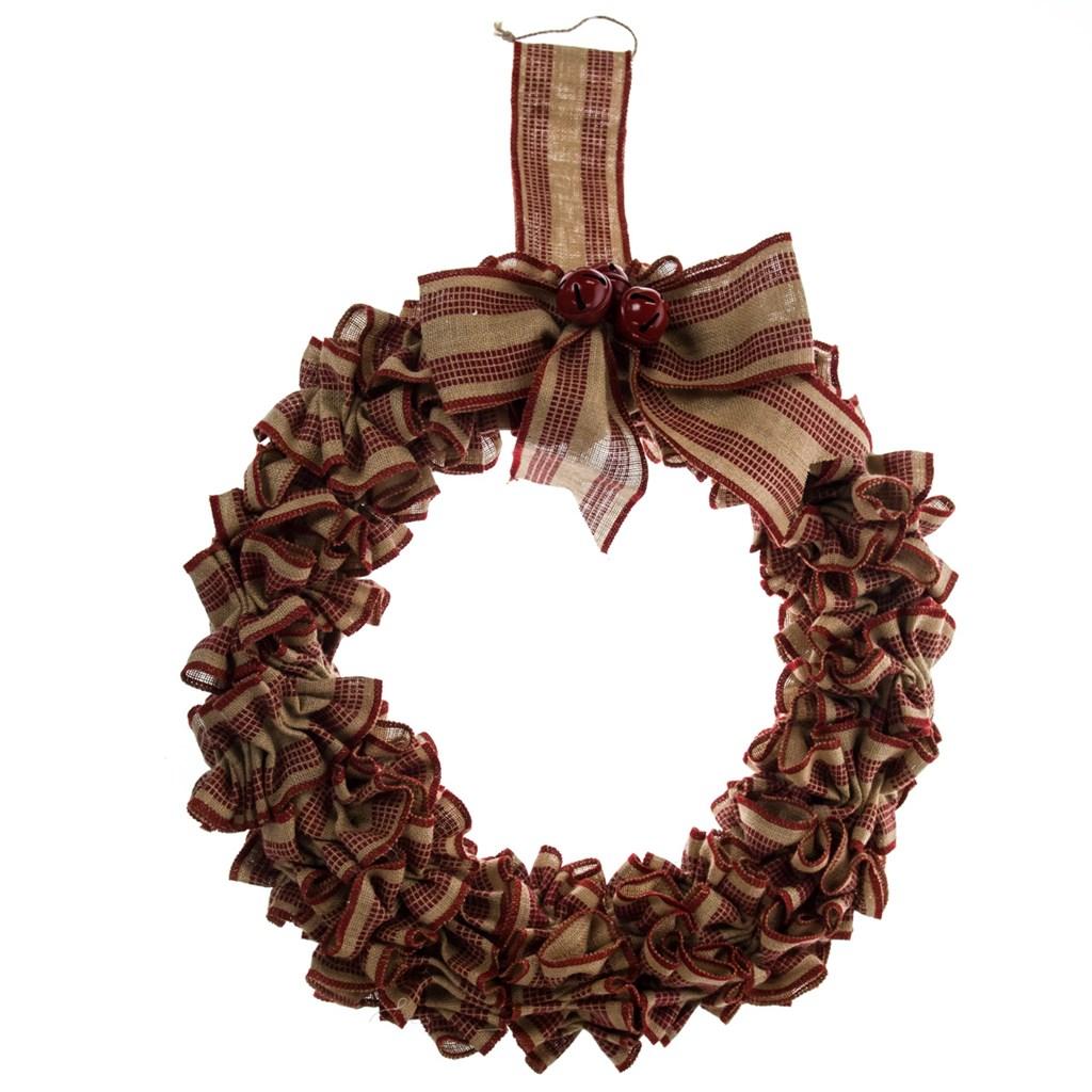Jute Wreath with Jingle Bells