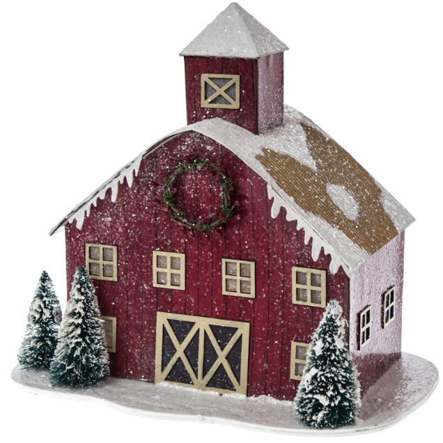Light-Up Decorative Paper Barn