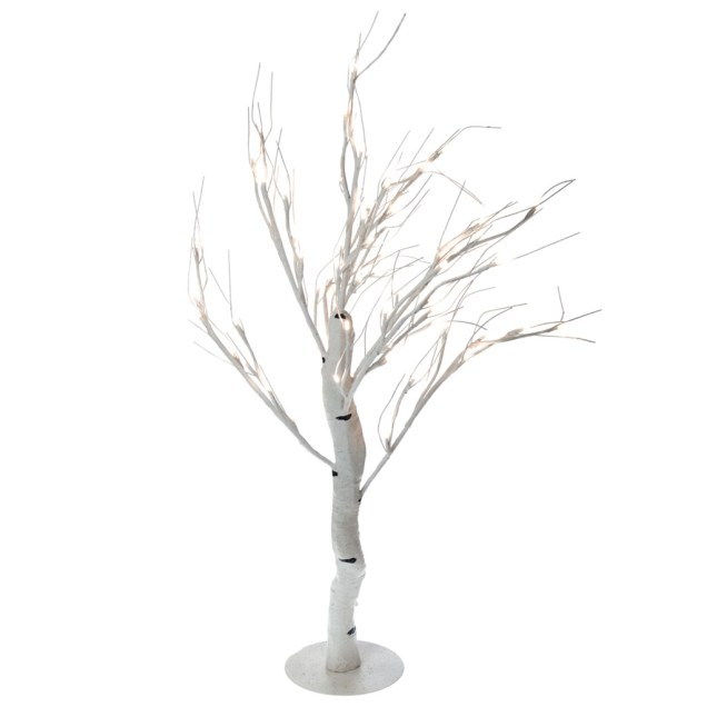 Light-Up LED Birch Tree