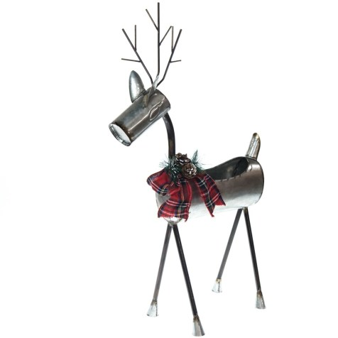 Metal Deer Basket Planter