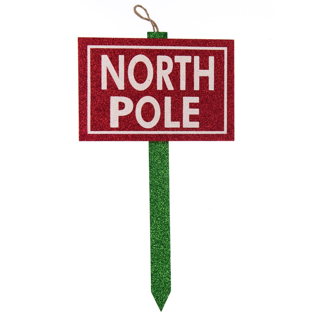 North Pole Sign Tree Topper