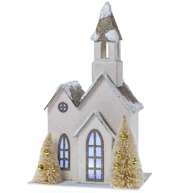 LED Light-Up Paper Church Decor