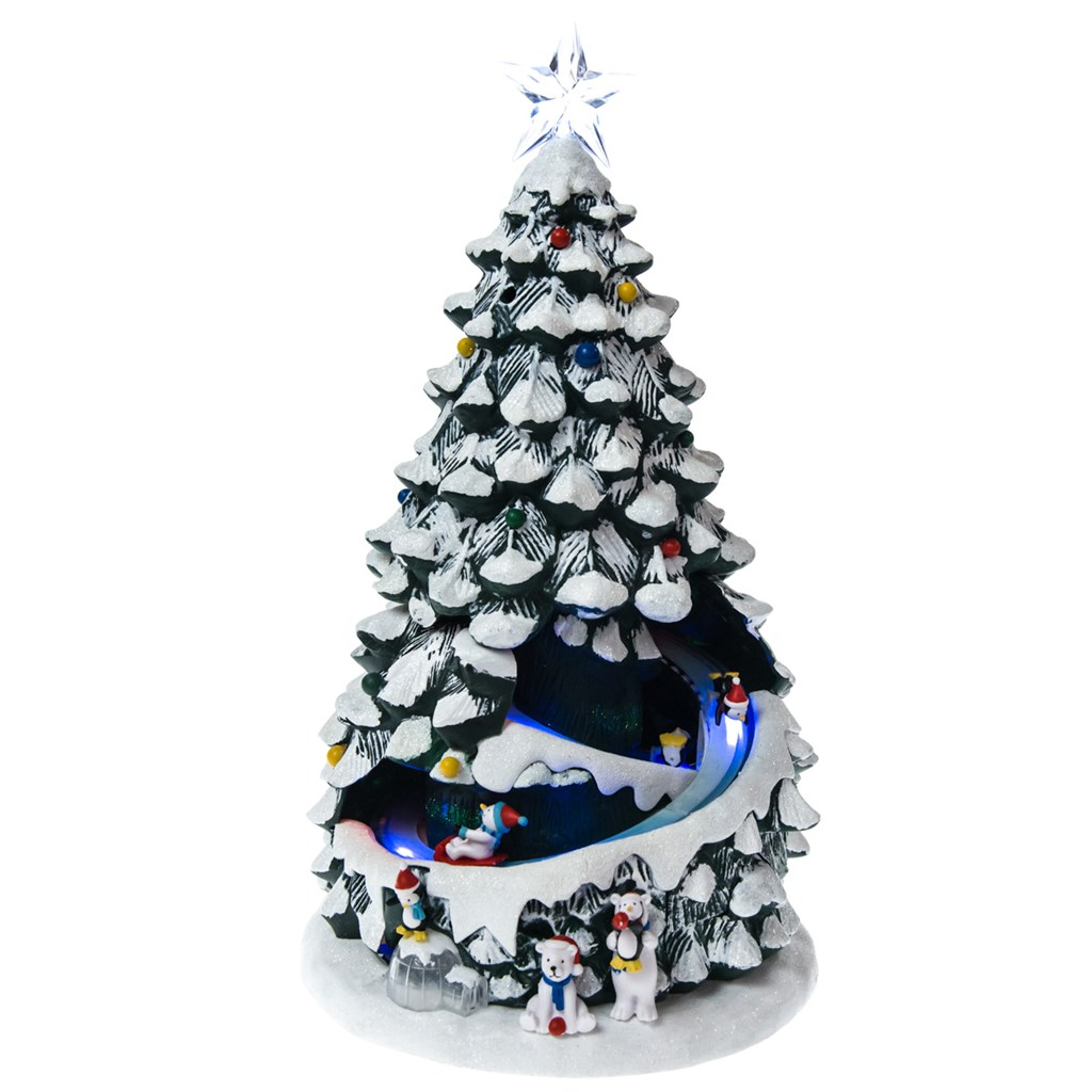 LED Animated Musical Penguins Tree