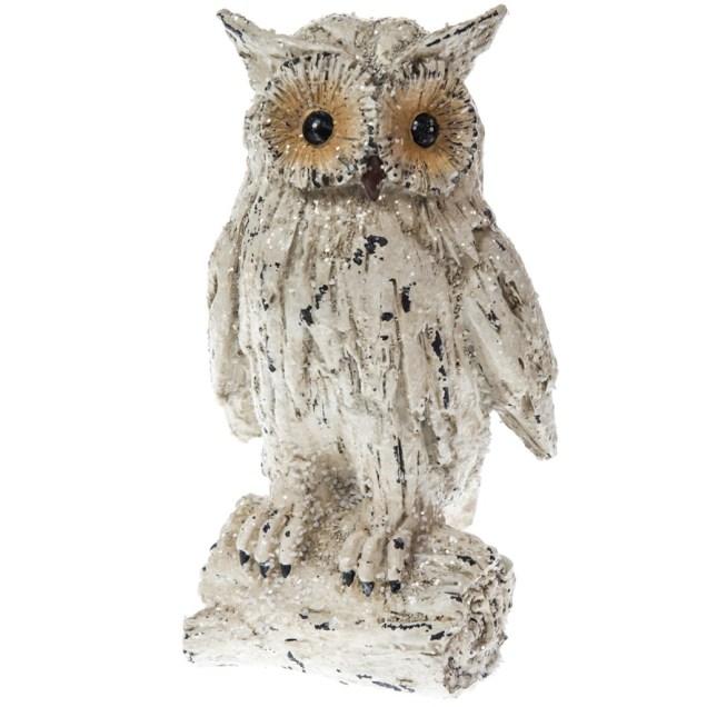 Snowy Owl on Limb Decor