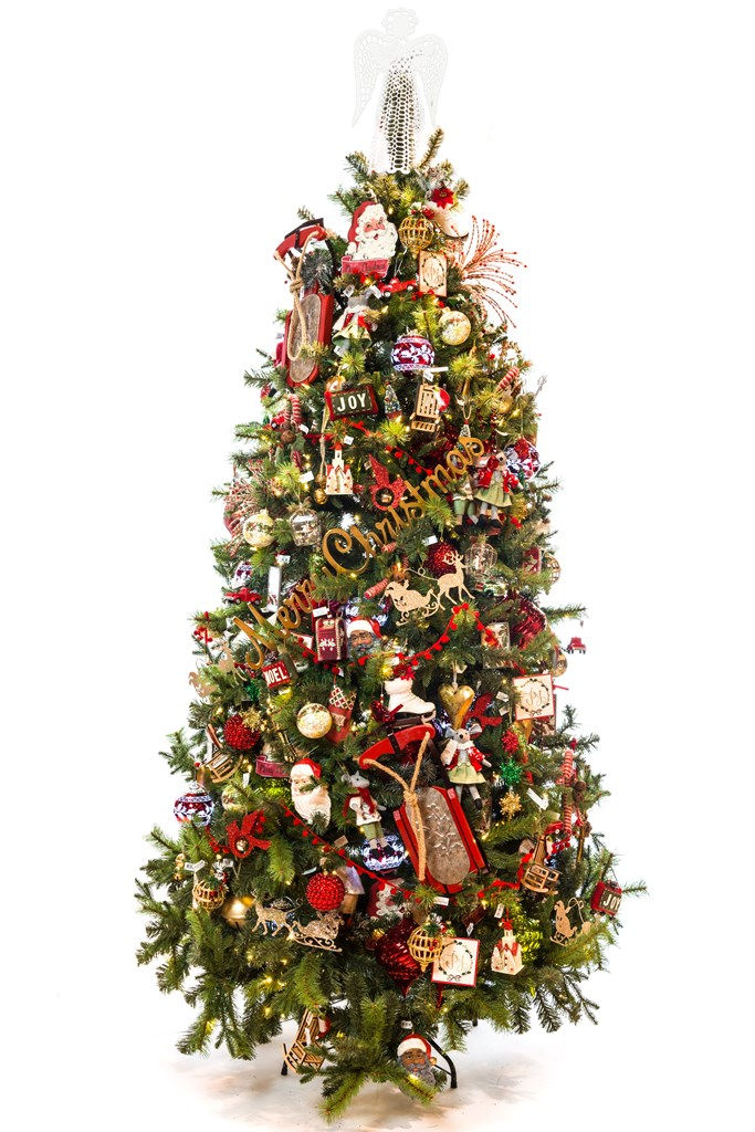 8' Pre-Lit Dual Color Forest Fresh Spruce Christmas Tree