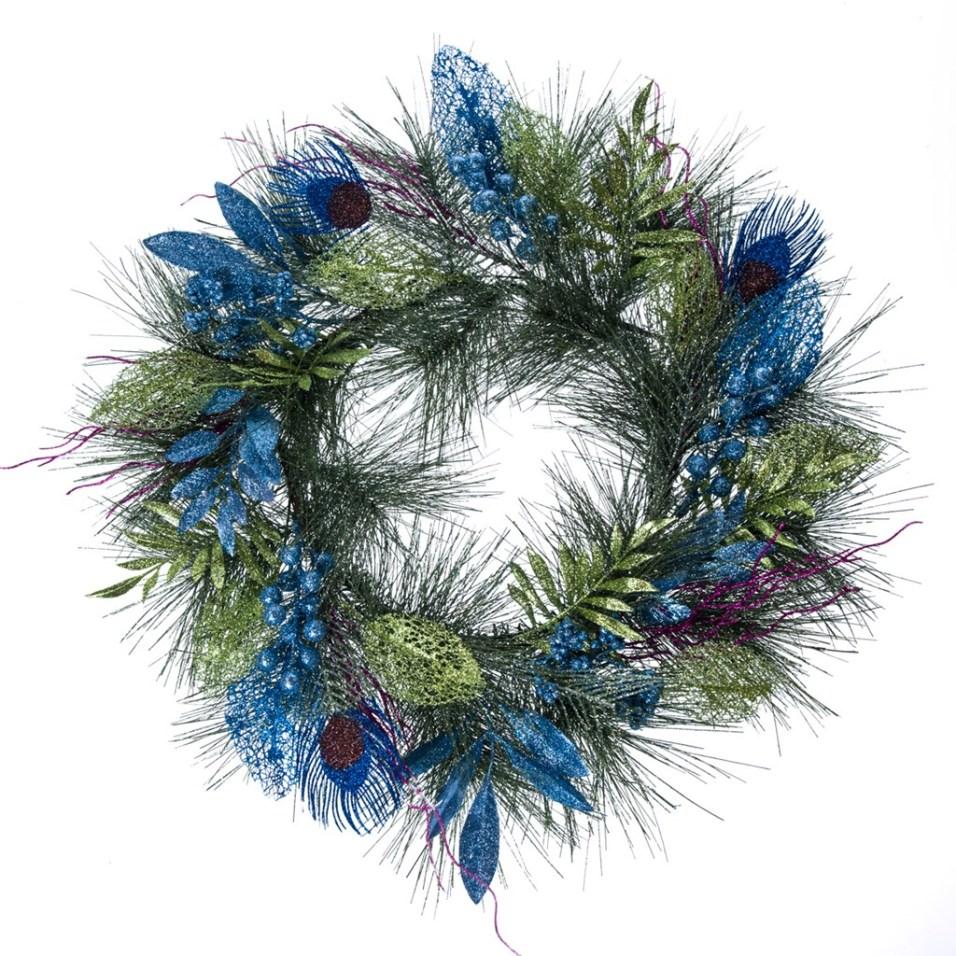 Glitter Peacock Wreath