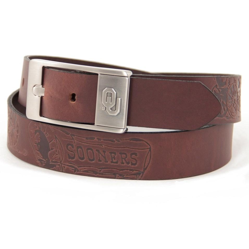 Branded Leather Belt - Oklahoma