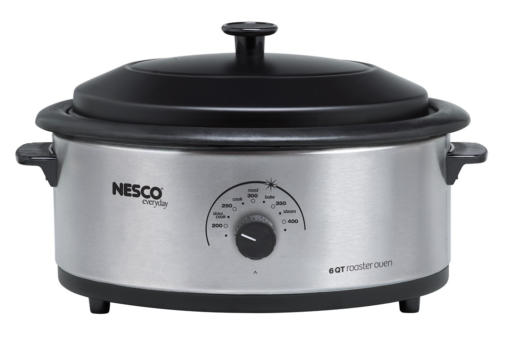 6-Quart Stainless Steel Roaster with Nonstick Cookwell