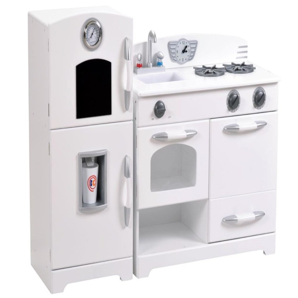 White Kitchen and Fridge Playset
