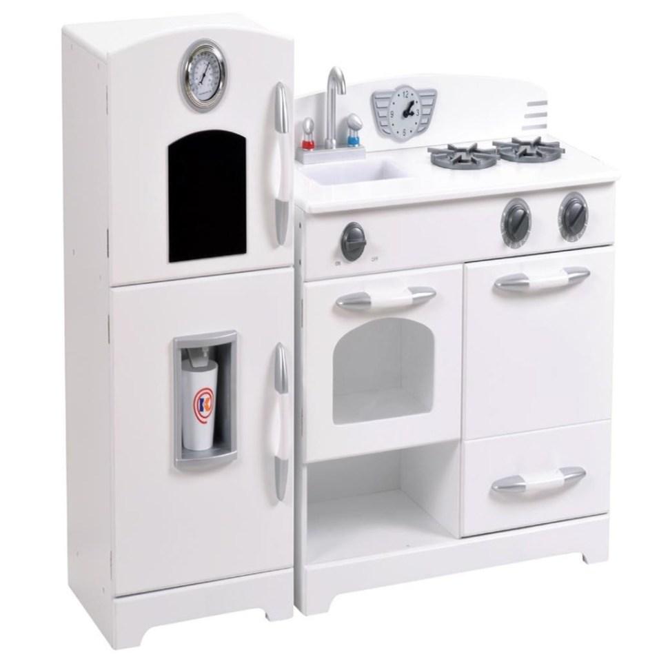 White Kitchen and Fridge Playset