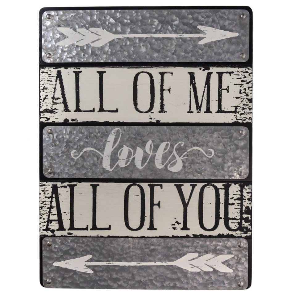 """""""All Of Me Loves All Of You"""" Wall Decor"""